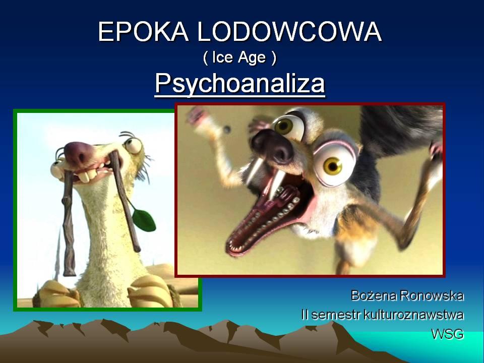 Psychoanaliza/ ciąg dalszy wspomnień..