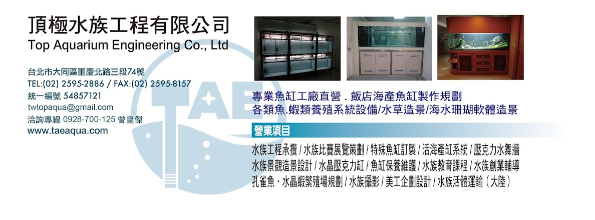 頂極水族工程有限公司 (Top Aquarium Engineering Co., Ltd.)
