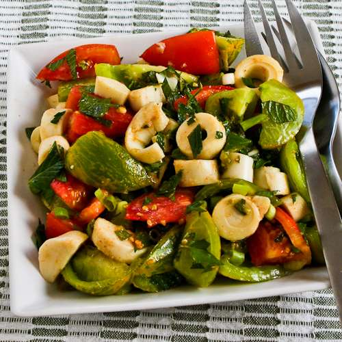 Recipe for Colorful Tomato Salad with Hearts of Palm, Mint, and Spicy ...