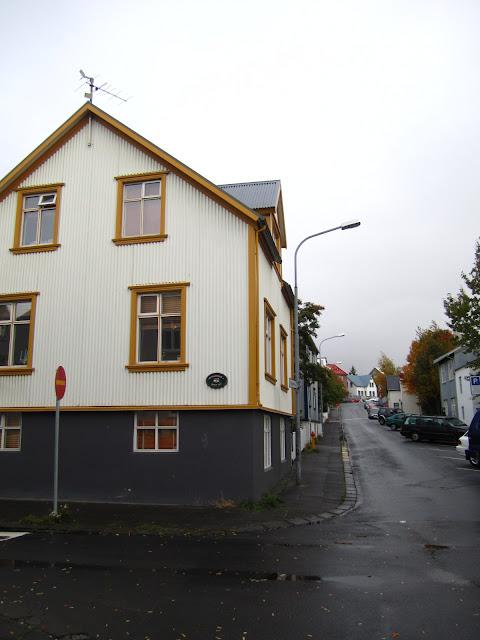 Street scene in Reykjavik, Iceland.