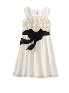 MyHabit: Save Up to 60% off Hype for Girls: Dress with Bow: Sleeveless  dress with lightweight top layer and tonal under layer, tiered bodice,  contrast waistband and bow, and hidden side zipper