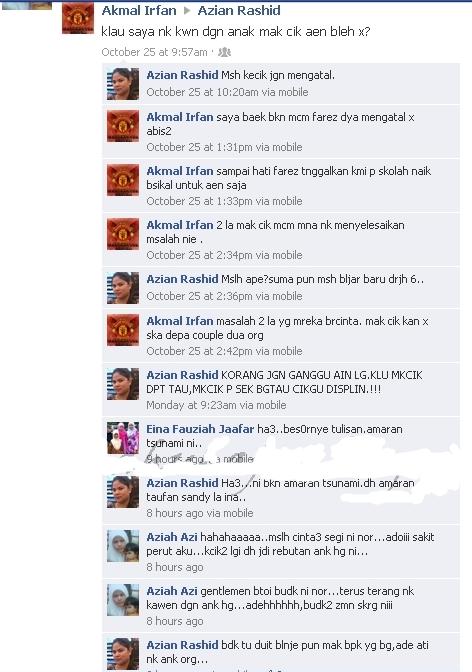 Hot! Budak Darjah 6 Pinang Anak Dara Orang di FB