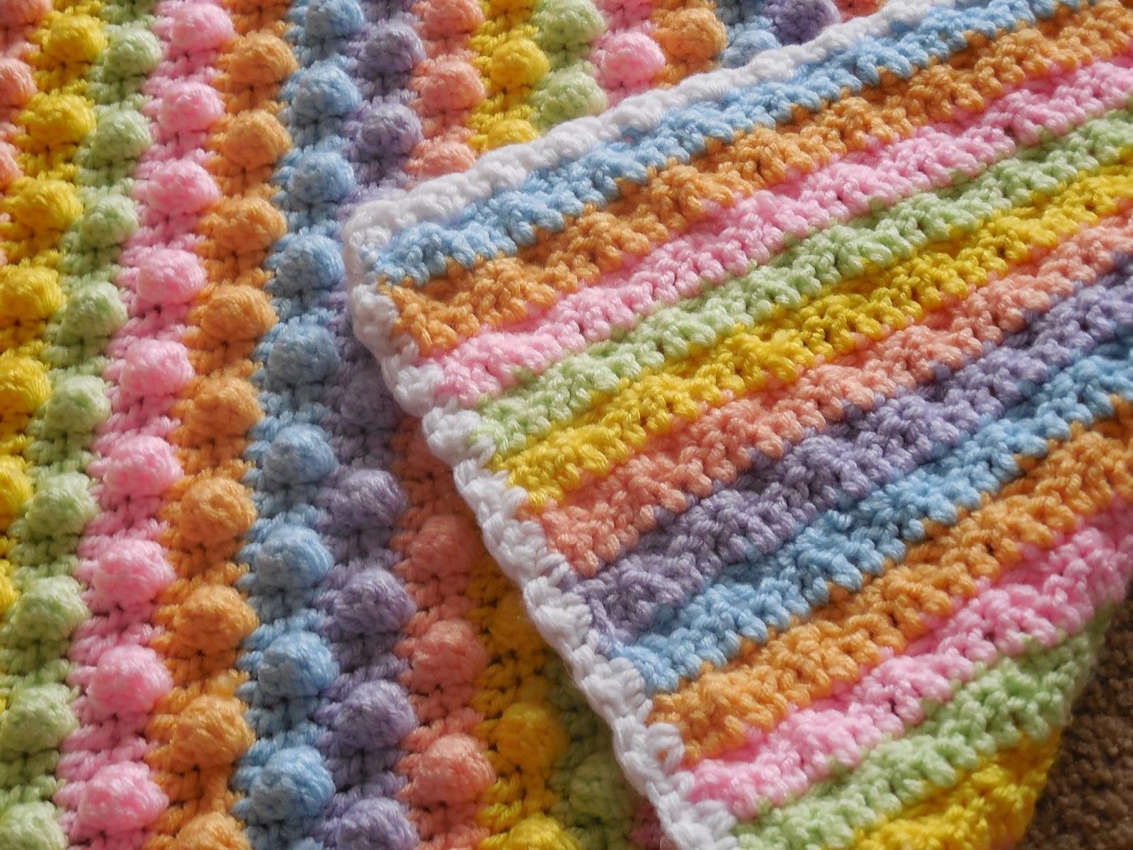 Crochet Pattern For Popcorn Stitch Baby Blanket : Hooked On Handmade: Popcorn stitch blanket