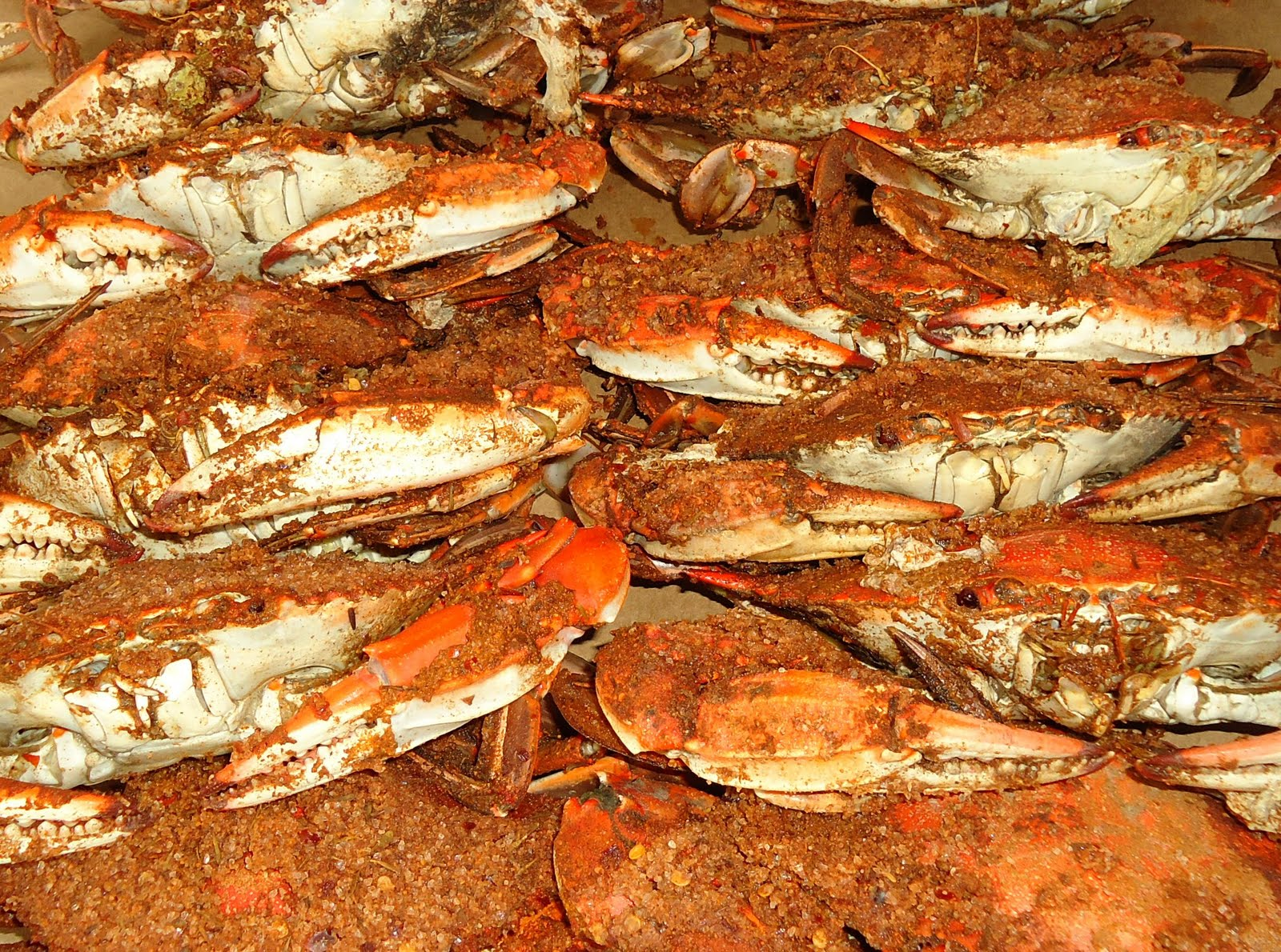 Maryland crabs are covered in Old Bay seasoning. Old Bay has been ...