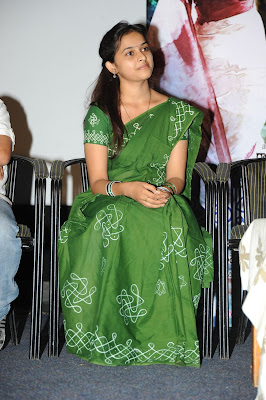 Beautiful Sri divya in green saree at mallela theeram lo sirimalle puvvu press meet