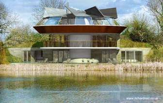 Una casa redonda con rotación arriba