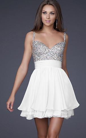 Ultima moda en vestidos de fiesta cortos