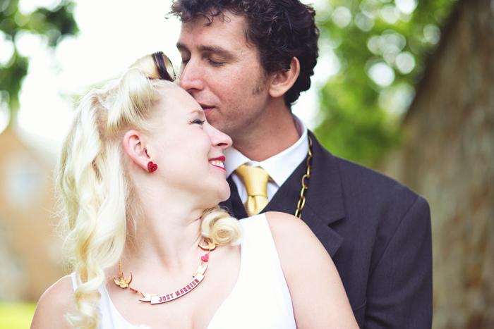 Becky & John by Hannah Millard. Alternative Wedding Photography