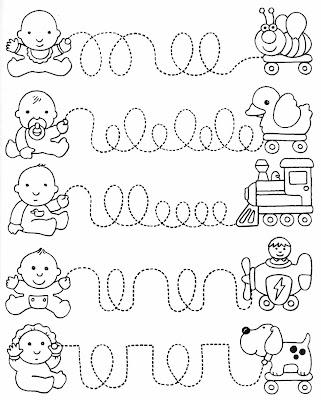 bebês,Atividades VISO-MOTORAS,atividades para imprimir,pontilhado,cobrir pontilhados,educação infantil,coordenação motora fina