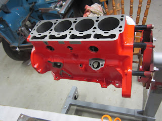 Volvo B20B engine painted