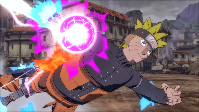 Flying Rasengan Attacj Mecha Naruto