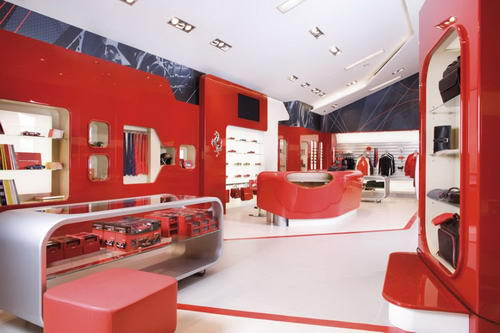 The Showroom Design of Ferrari Factory Store