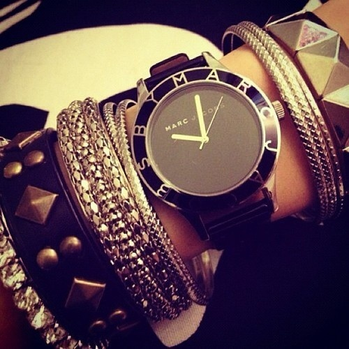 Marc Jacob's watch and bracelet style