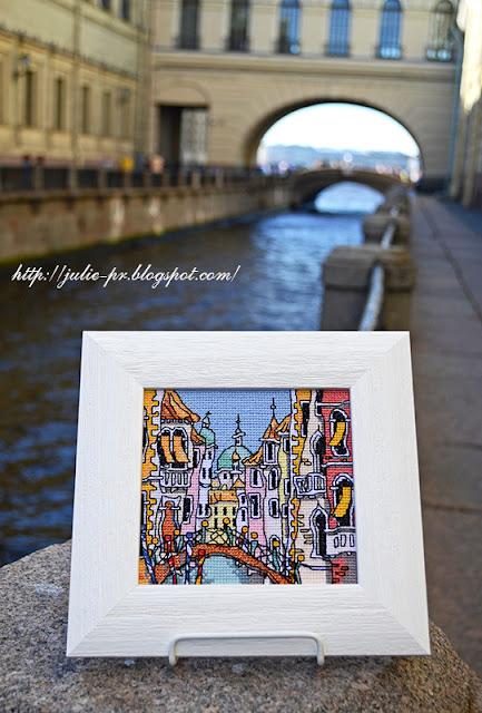 Michael Powell, Mini Venice Bridge, Майкл Пауэлл Венеция, вышивка крестом