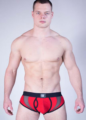 GBGB Wear Mens Underwear Evo Brief Red