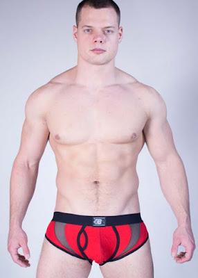 GBGB Wear Mens Underwear Evo Brief Red