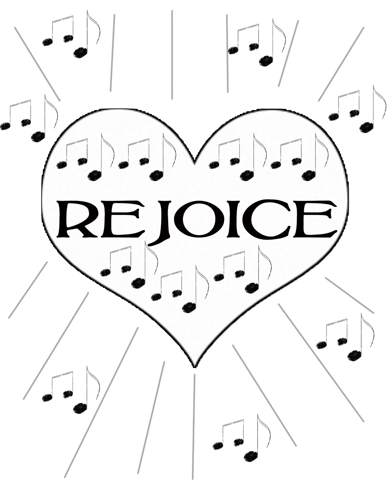 rejoice coloring pages - photo#6