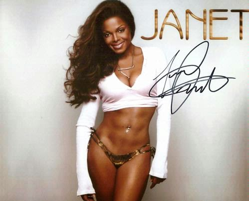 Janet Jackson Signed 8x10 Photo