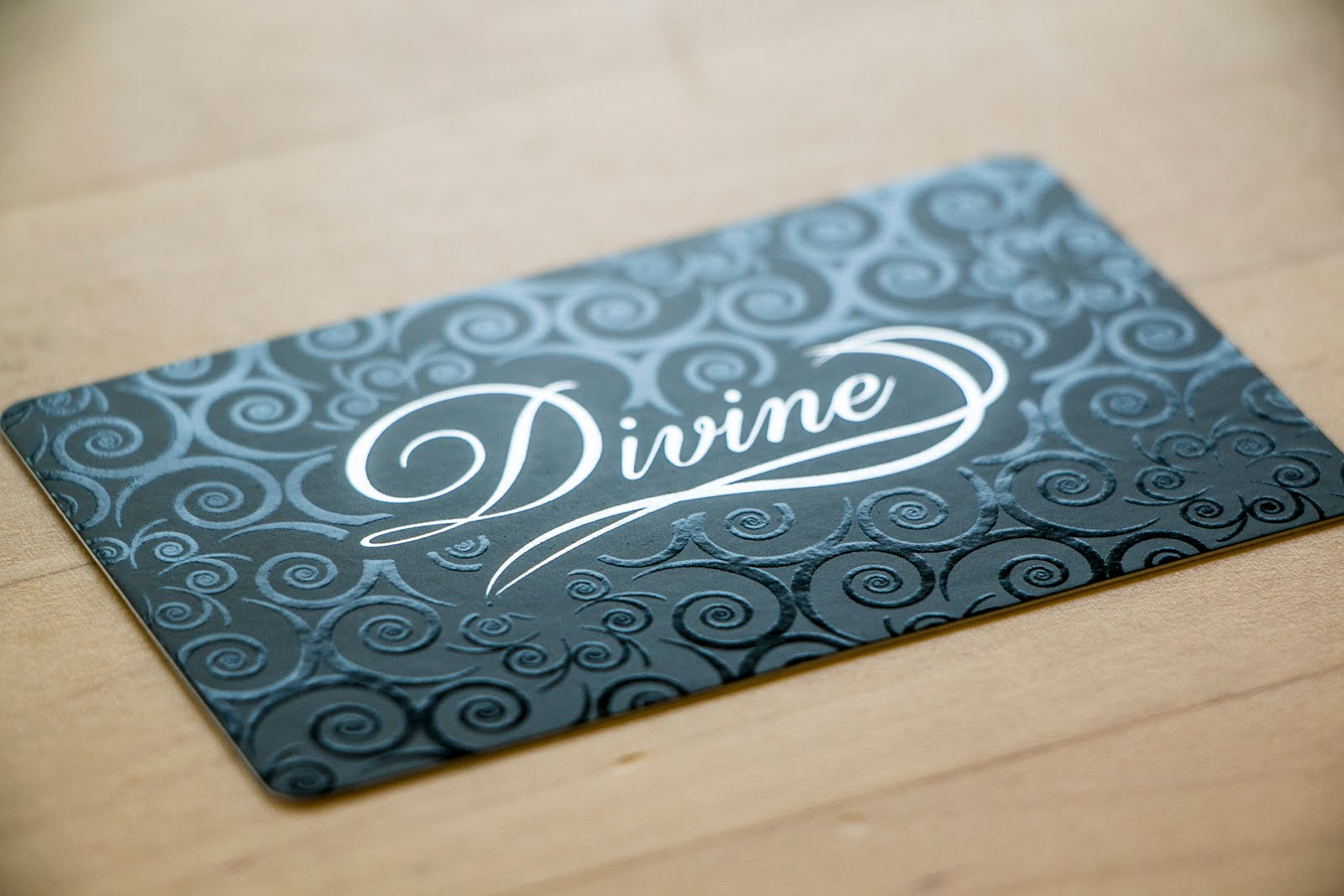 Shop inqqy spot uv business cards silk laminate with silver metallic foil spot uv magicingreecefo Images