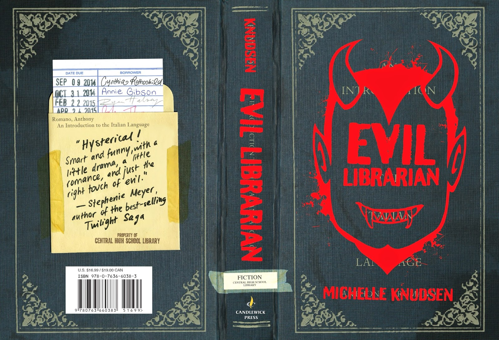 Book Cover Black Jacket : Michelle knudsen evil librarian is coming