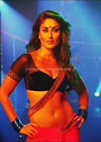 Kareena kapoor hot navel and cleavage show in movie heroine