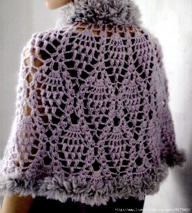 Crochet Doll Cape Pattern : Crochet: Poncho-cape