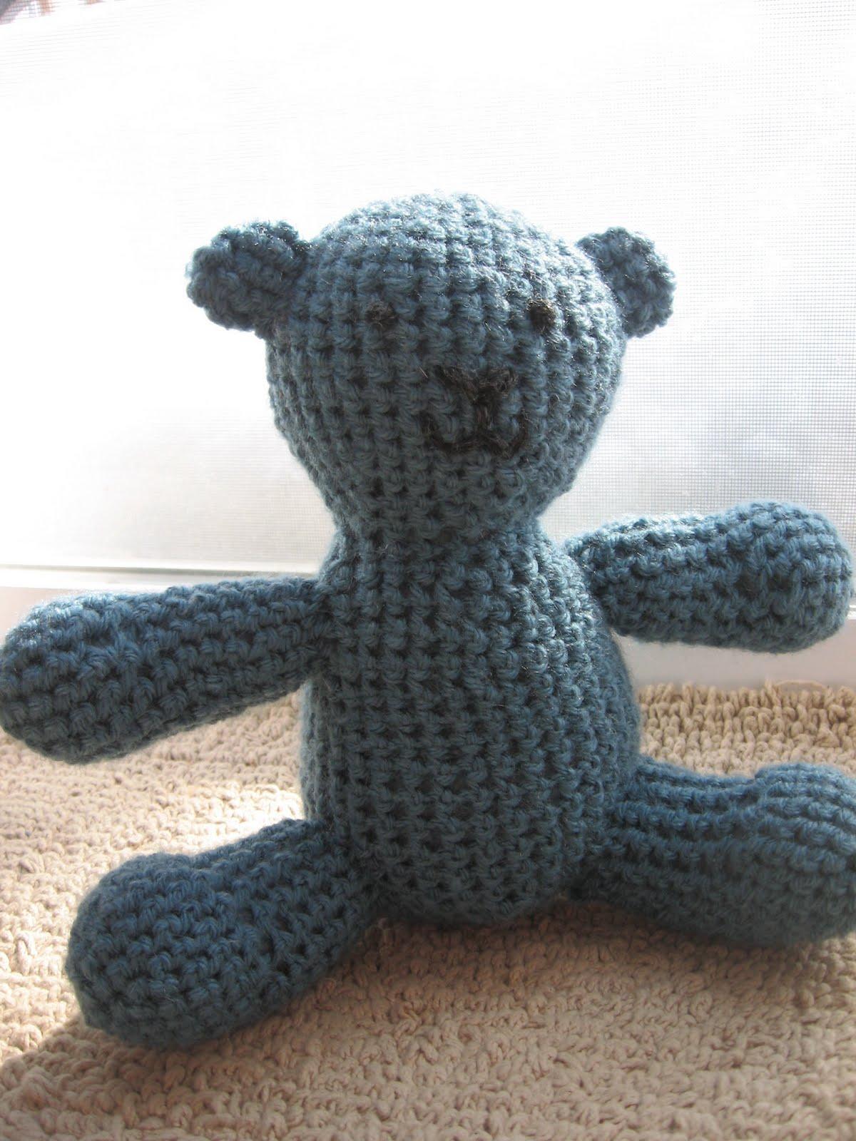 Knitted Teddy Bear Dishcloth Pattern : joyful strength: knit teddy bear