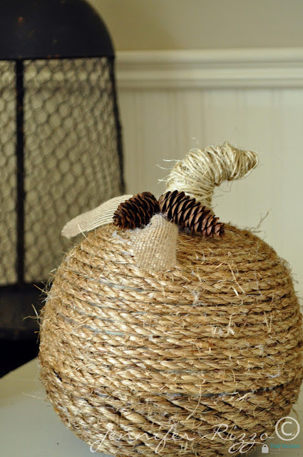 How to make  a twine wrapped pumpkin