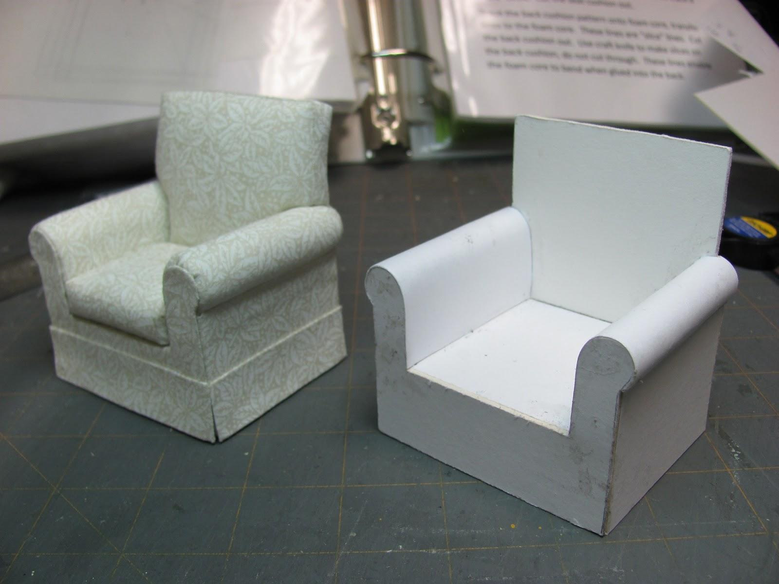 Кресло для кукол из картона своими руками