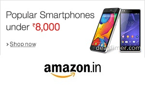 Popular Smartphone Under Rs. 8,000