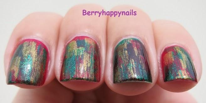 Happyberrynaiad Weekend Nail Art Xmas Grunge