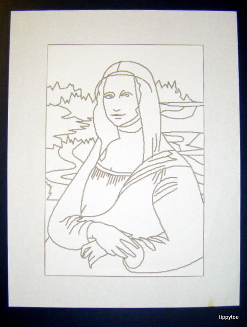 how to draw mona lisa for kids