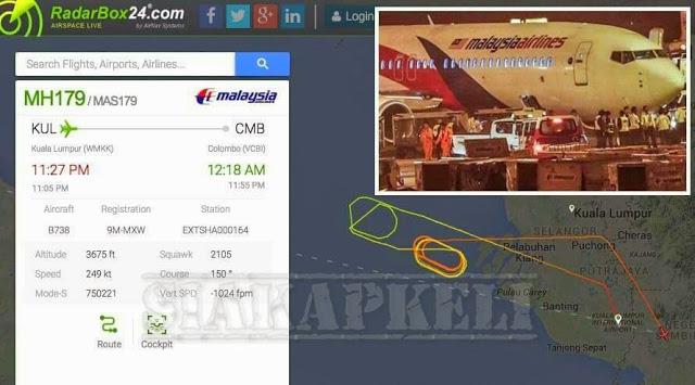 Punca Sebenar MH179 Pesawat MAS Mendarat Cemas di KLIA Pada 10 Mei 2015