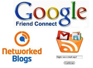 qual a diferença entre os mecanismos de inscrição dos blogs
