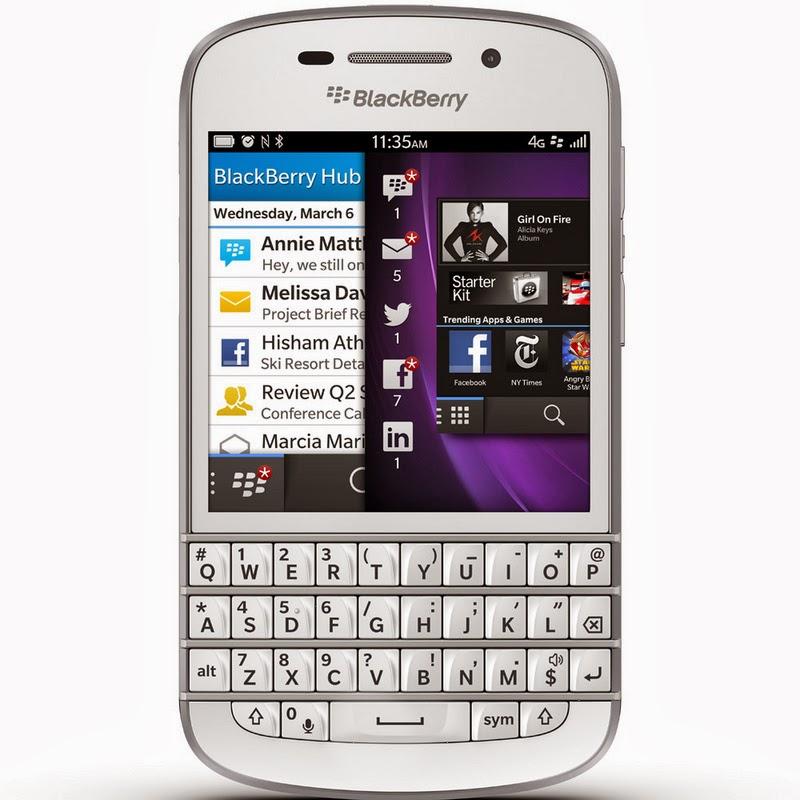 Spesifikasi Dan Harga BlackBerry Q10 White Terbaru