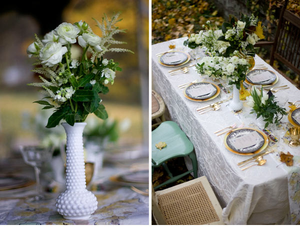Table runners from wedding