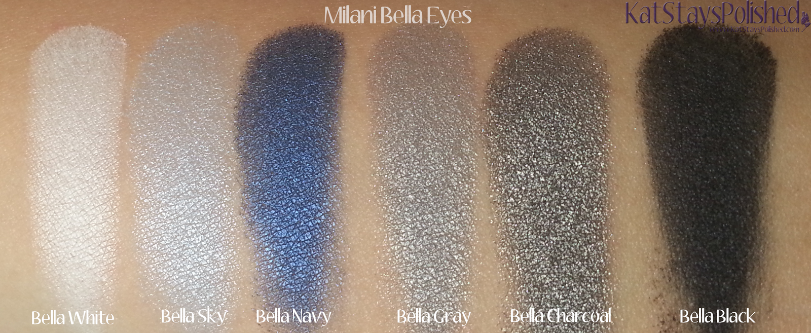 Milani Bella Eyes Gel Powder Eye Shadow - Swatches 07-12 | Kat Stays Polished