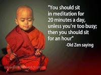 meditation quote, zen quote, monk meditating, old zen saying