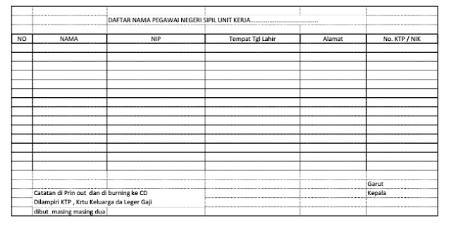 Dowload Format Isian blanko BPJS Microsoft Excel