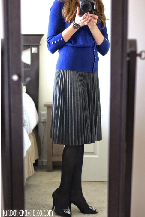 Charissa pleated swing skirt from Stitch Fix