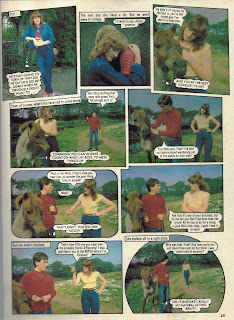 Horsing Around photo story from Jackie annual '84, starring Alan Cumming 2