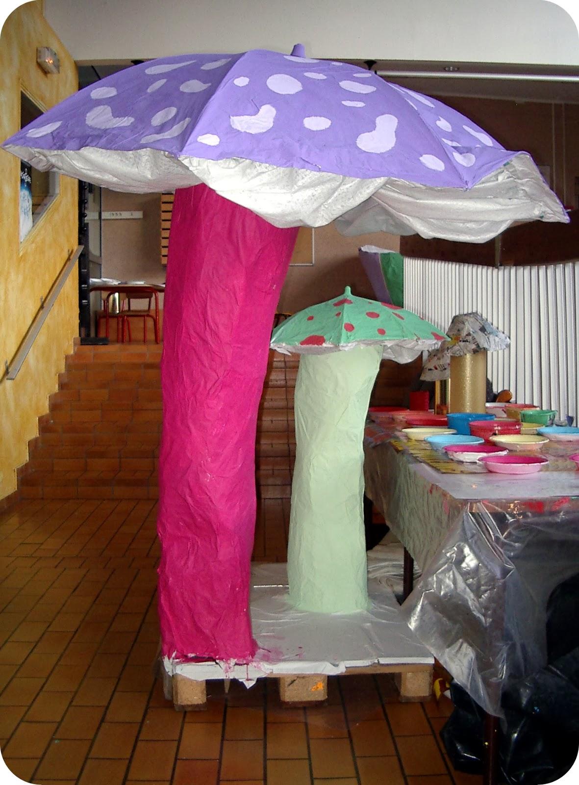 Micka lle delam papier m ch structures pour le for Paper mache structure