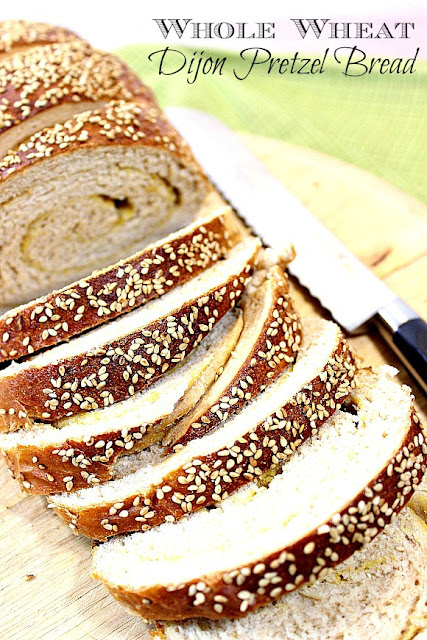 Whole Wheat Dijon Pretzel Bread