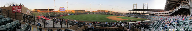 view from seat, diamondbacks baseball