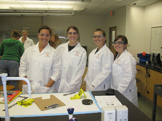 Dunn posed with faculty and fellow forensic science students from SHSU.