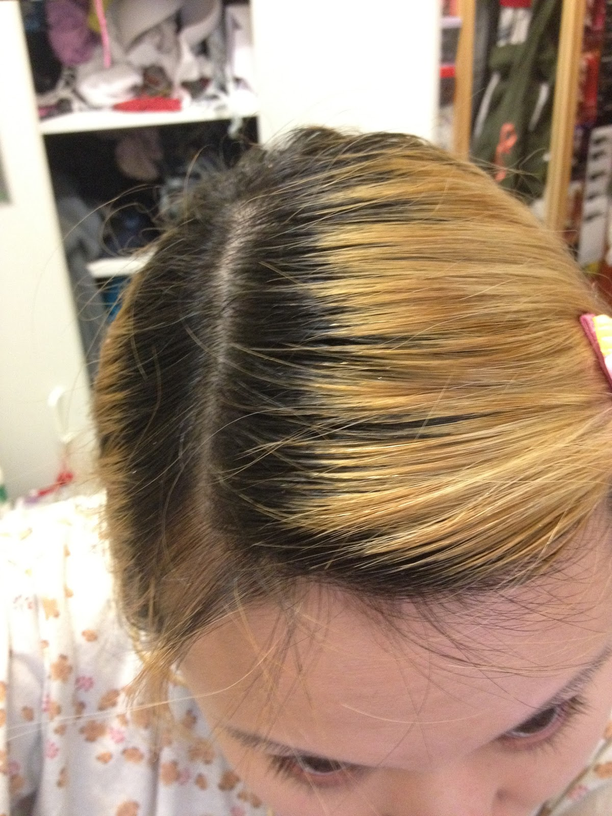 Loreal Excellence Hicolor For Dark Hair After Dying Hair Imagejpg