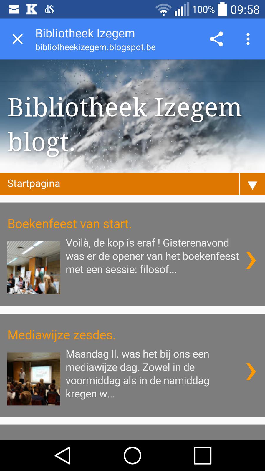 Deze blog al eens op je smartphone uitgetest ?