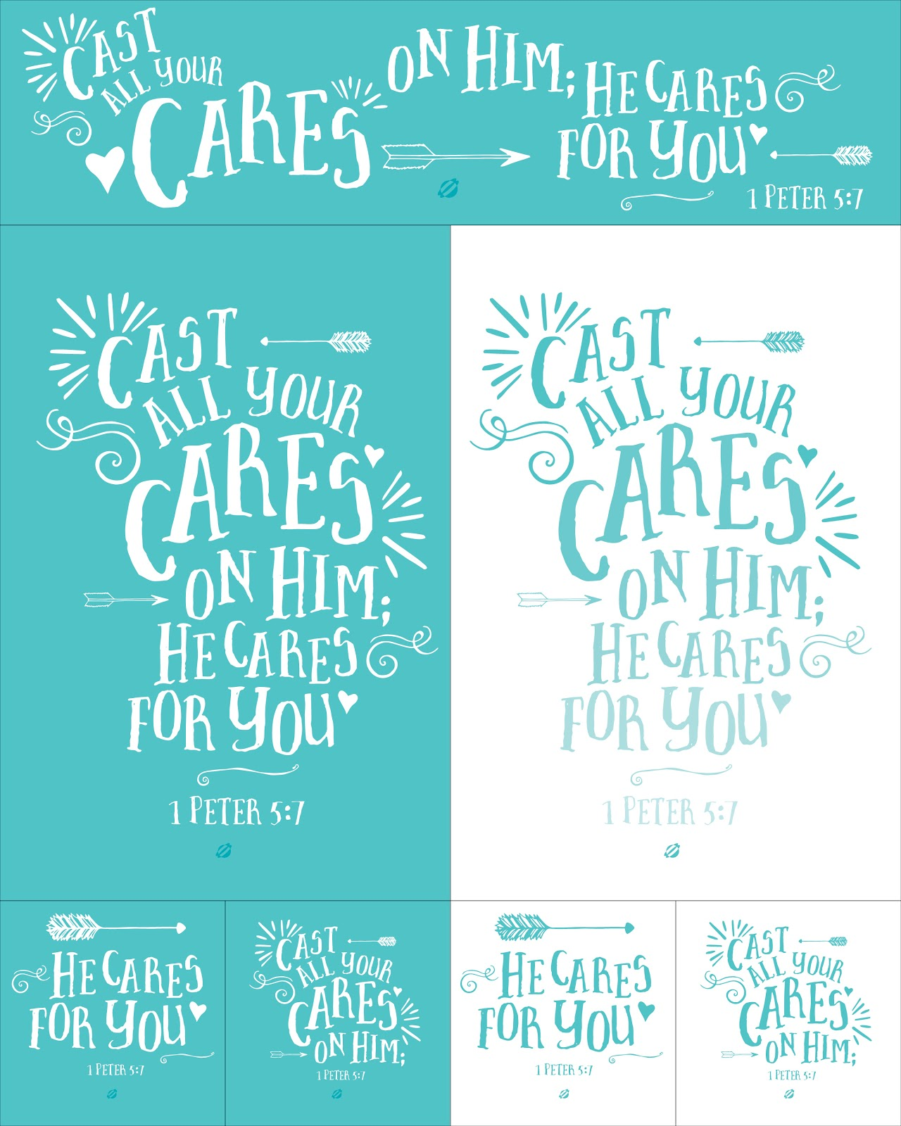LostBumblebee 2014 Printable Pages CAST YOUR CARES Free printable- for Personal use