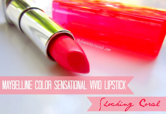 Maybelline Color Sensational Vivid Lipstick in Shocking Coral