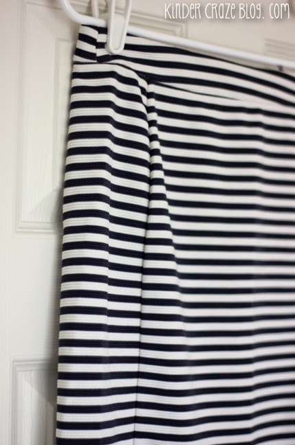 love this navy and white strip skirt from Stitch Fix